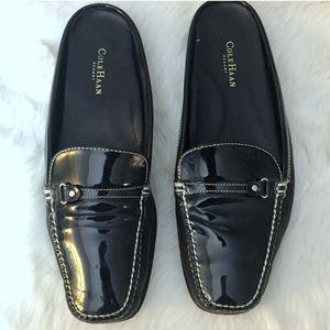 Cole Haan Resort Mule Slides Patent Leather Black